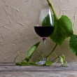 Foto Stock: Glass with red wine