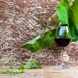 Stock Photo: Glass with red wine