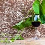 szkło z czerwonego wina — Zdjęcie stockowe