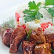 Foto Stock: Stewed mutton with rice