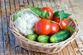Verduras en la cesta — Foto de Stock
