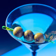 Martini with green olives — Stock Photo #30961127