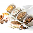 Spices in a small ceramic cups — Stock Photo