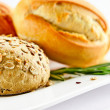bread and rosemary — Stock Photo