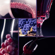 Grape and  red wine  — Stockfoto