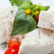 Halibut with rice — Stock Photo #31779631