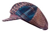 Checkered cap on white — Foto Stock