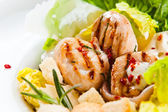 Caesar salad with grilled chicken — Stock Photo