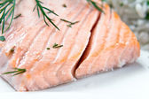 Salmon with dill — Stock Photo