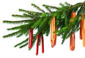 Christmas sausages — Stock Photo