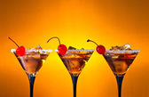 Cocktails with cherry — Stock Photo