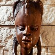 Traditional wooden sculpture from Africa — Stock Photo