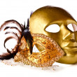 Venetian masks isolated on white — Stock Photo