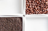 Coffee beans and tea — Stock fotografie