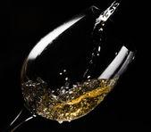 White wine on black — Stock Photo
