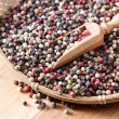 Stock fotografie: Peppercorns on wooden table