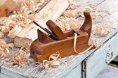 Old wooden plane  — Stock Photo