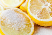 lemon with sugar  — Stock Photo