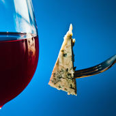 Cheese and red wine — Stockfoto
