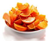 Cut tangerines — Stock Photo