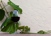 Glass with red wine  — Stock Photo