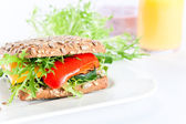 Sandwich with grilled vegetables — Stockfoto