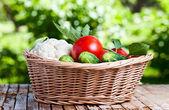 在篮子里的蔬菜 — 图库照片