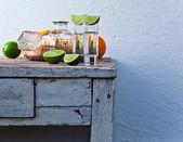 Tequila and citrus fruits  — Stock Photo