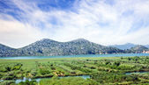 Fertile valley in mountains of Montenegro — Stock Photo