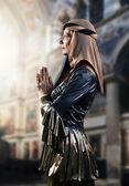 Portrait of woman in Renaissance gown — Foto Stock