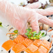 Table with seafood — Stock Photo