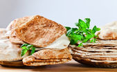 Unleavened wheat cake  — Stock Photo