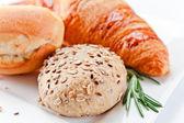 bread and rosemary — Stock Photo