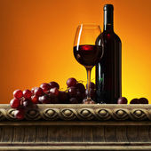 Grape and red wine  — Stock Photo