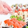 Table with seafood — Stock Photo #48723365