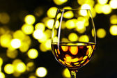 Glass with white wine — Stock Photo