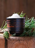Sea salt with coniferous aroma  — Stock Photo