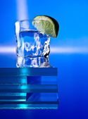 Tequila , lime and salt — Stock Photo