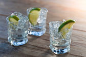 Tequila with ice and lime  — Stock Photo