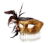 old Venetian mask isolated on white — Stockfoto