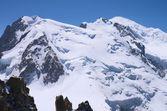 Vetta del mont-blanc, nelle vicinanze — Foto Stock