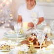 Foto de Stock  : Christmas place setting