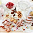 Stock Photo: Baking ingredients for cookies and gingerbread