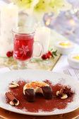Nachtisch für weihnachten mit glühwein — Stockfoto