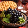 Royalty-Free Stock Photo: Fresh grapes and glass of wine