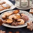 Assortment of Christmas cookies — ストック写真