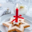 Christmas gingerbread candle - Stock Photo