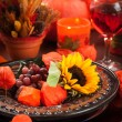 Autumn place setting - Foto Stock