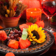 Autumn place setting - Stockfoto