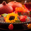 Autumn place setting — Stock Photo
